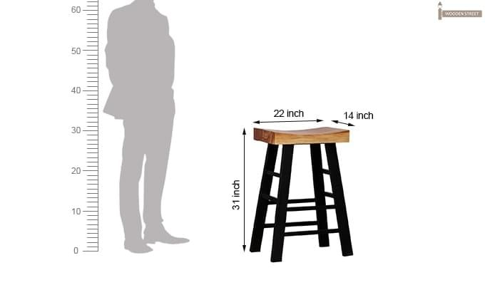 Mckeigh Bar Stool (Black Finish)-7