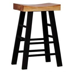 Mckeigh Bar Stool (Black Finish)