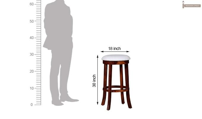 Maher Bar Stool (Mahogany Finish)-7