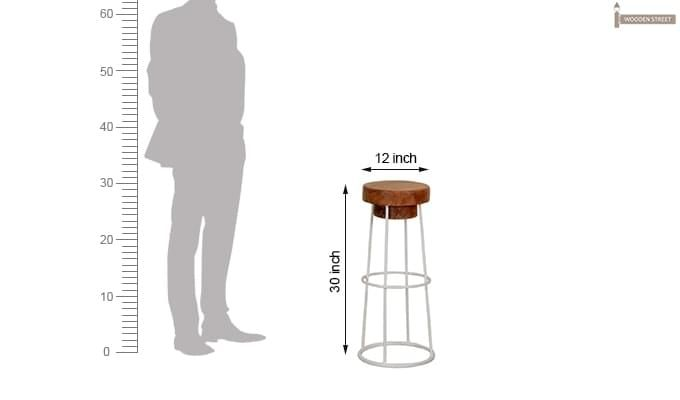 Pendlebury Bar Stool (White)-4