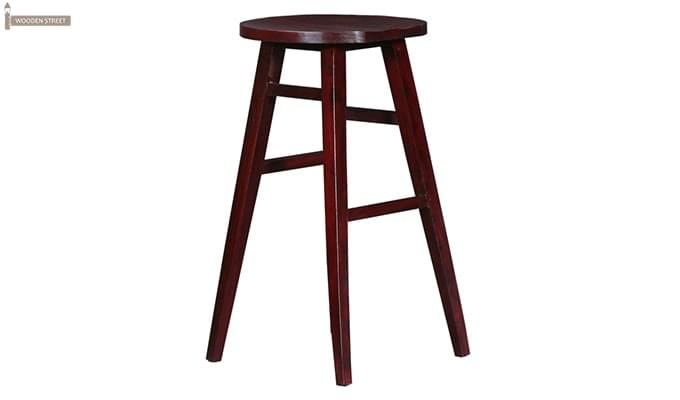Sheshan Bar Stool (Mahogany Finish)-1