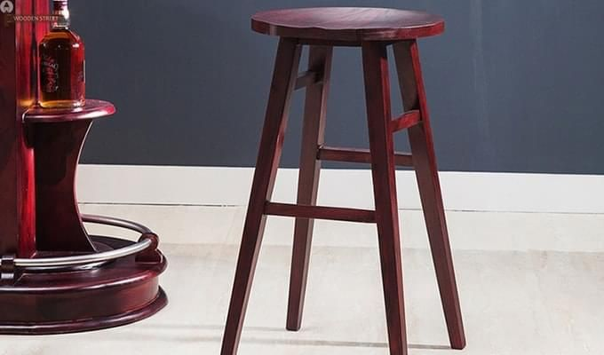 Sheshan Bar Stool (Mahogany Finish)-5
