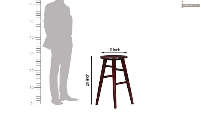 Sheshan Bar Stool (Mahogany Finish)-8