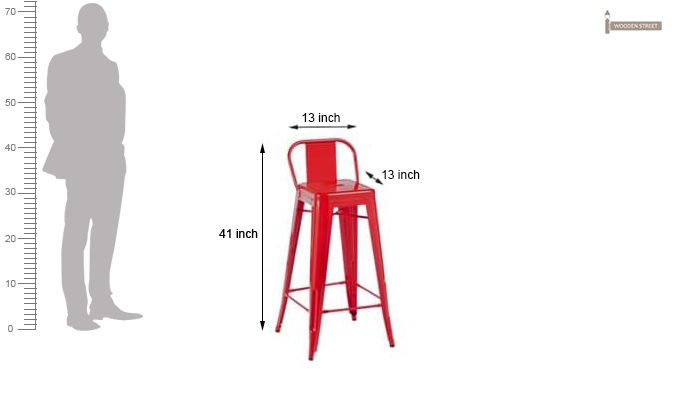 Torup Bar Stool (Red)-5