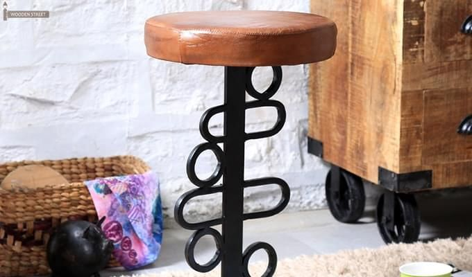 Urby Bar Stool (Black Finish)-6