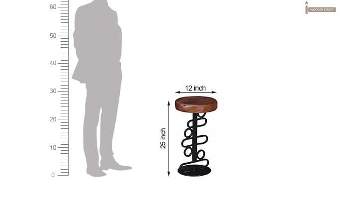 Urby Bar Stool (Black Finish)-7