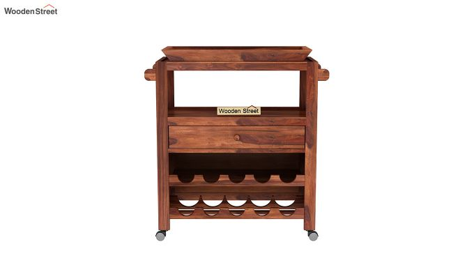 Hesper Bar Trolley (Honey Finish)-3
