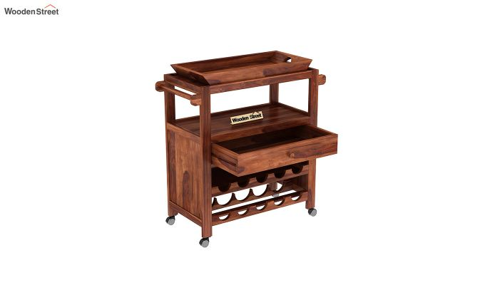 Hesper Bar Trolley (Honey Finish)-4