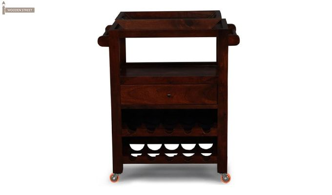 Hesper Bar Trolley (Honey Finish)-1