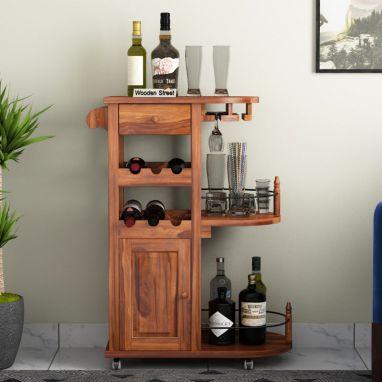 Shop Home Bar Trolley Online @ WoodenStreet