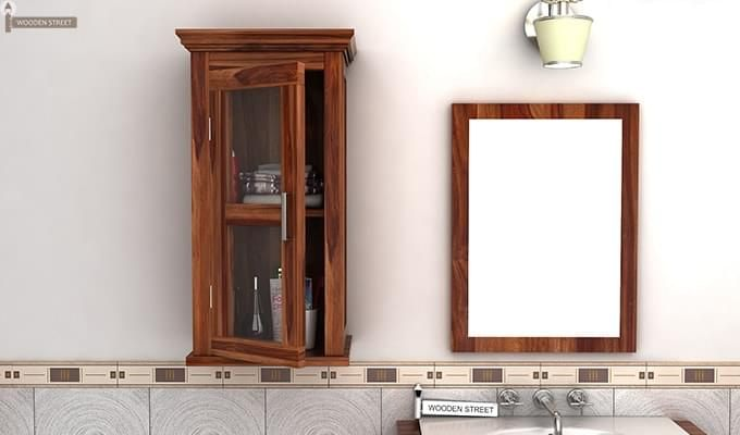 Benitez Bathroom Cabinet (Teak Finish)-1