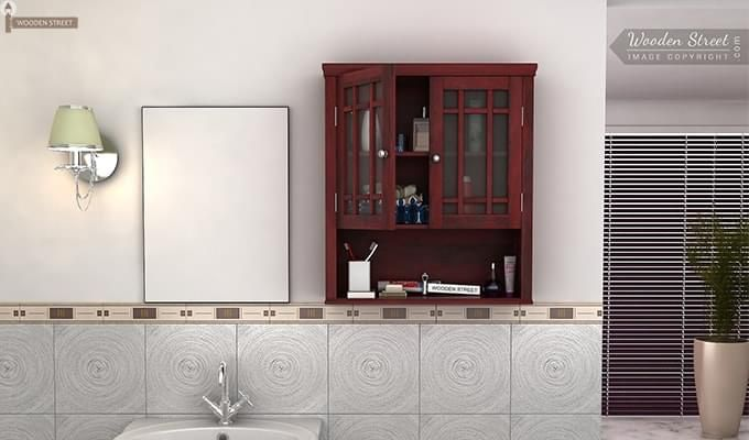 Carney Bathroom Cabinet (Mahogany Finish)-1