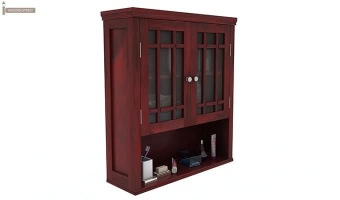 Carney Bathroom Cabinet (Mahogany Finish)-2