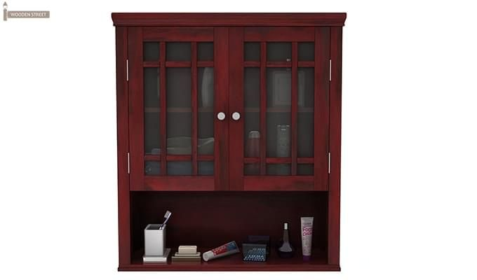 Carney Bathroom Cabinet (Mahogany Finish)-3