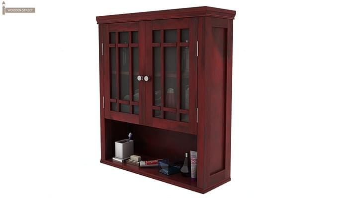 Carney Bathroom Cabinet (Mahogany Finish)-4