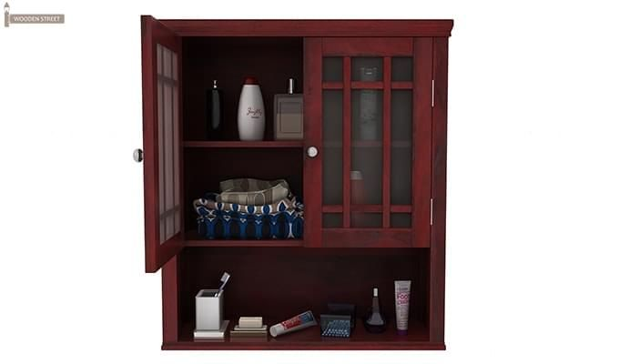 Carney Bathroom Cabinet (Mahogany Finish)-5