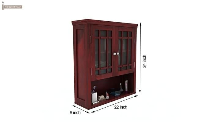 Carney Bathroom Cabinet (Mahogany Finish)-6