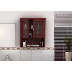 Carney Bathroom Cabinet (Mahogany Finish)