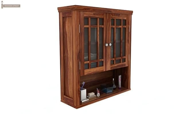 Carney Bathroom Cabinet (Teak Finish)-2