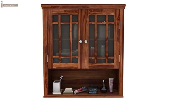 Carney Bathroom Cabinet (Teak Finish)-3