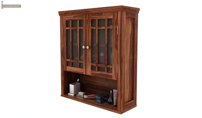 Carney Bathroom Cabinet (Teak Finish)-4