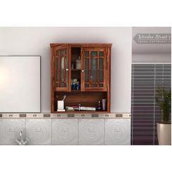 Carney Bathroom Cabinet (Teak Finish)