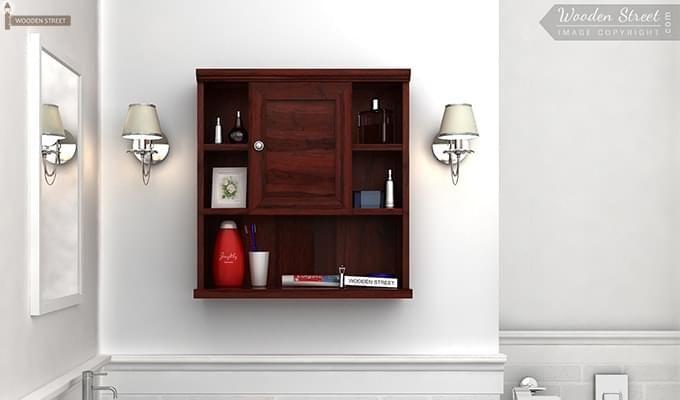 Cuevas Bathroom Cabinet (Mahogany Finish)-1