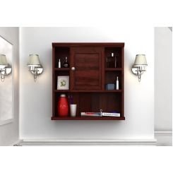 Cuevas Bathroom Cabinet (Mahogany Finish)
