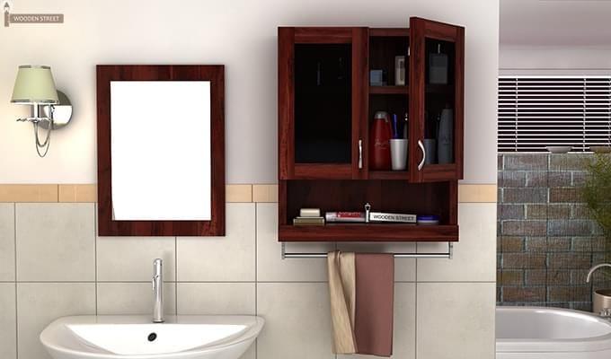 Davies Bathroom Cabinet (Mahogany Finish)-1