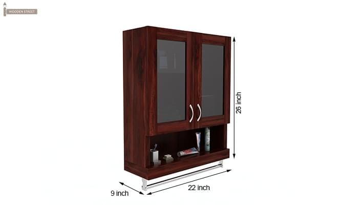 Davies Bathroom Cabinet (Mahogany Finish)-6