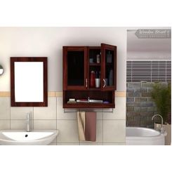 Davies Bathroom Cabinet (Mahogany Finish)
