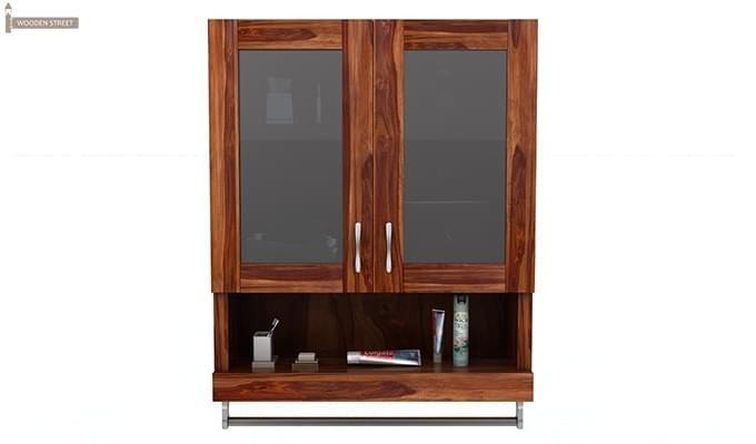 Davies Bathroom Cabinet (Teak Finish)-3