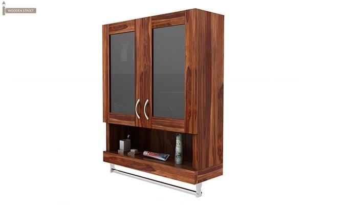 Davies Bathroom Cabinet (Teak Finish)-4