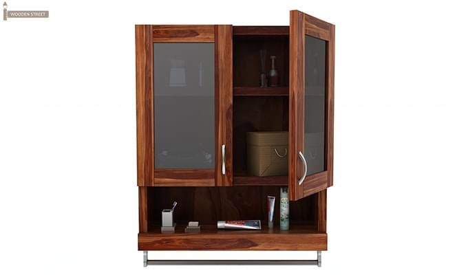 Davies Bathroom Cabinet (Teak Finish)-5