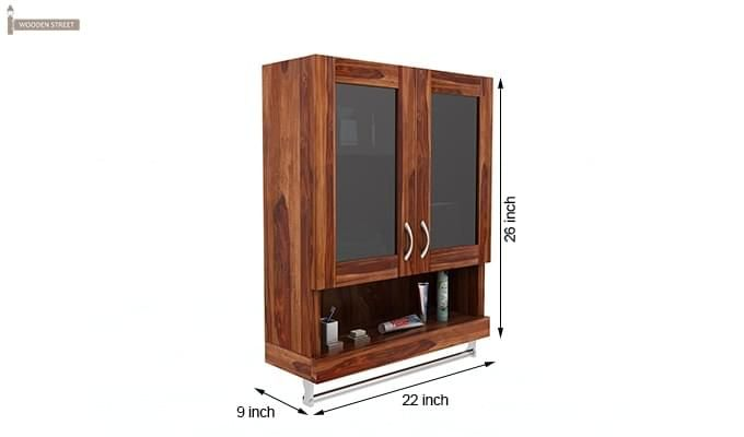 Davies Bathroom Cabinet (Teak Finish)-6