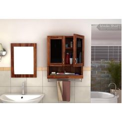 Davies Bathroom Cabinet (Teak Finish)