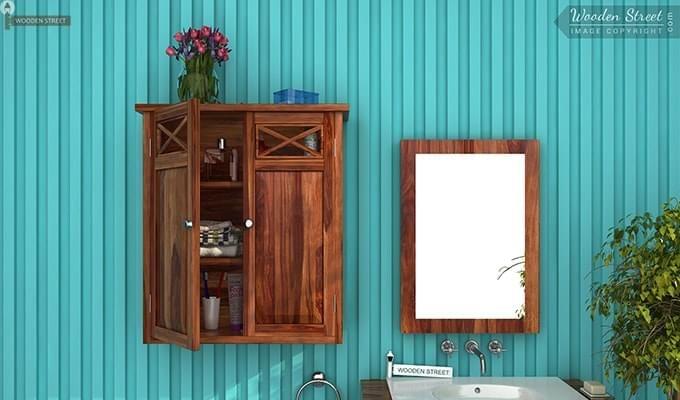 Esparza Bathroom Cabinet (Teak Finish)-1