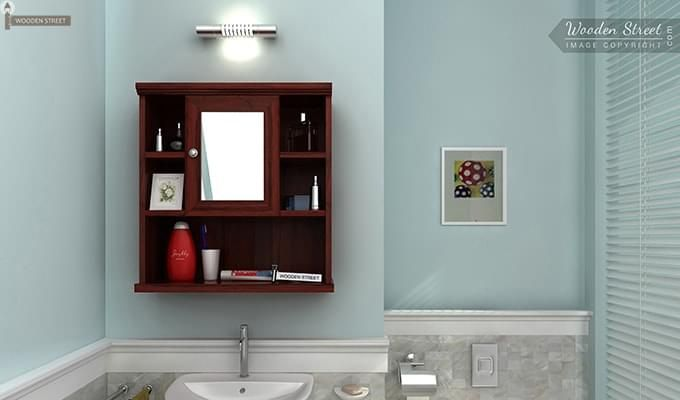 Ewing Bathroom Cabinet (Mahogany Finish)-1