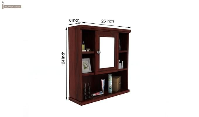 Ewing Bathroom Cabinet (Mahogany Finish)-5