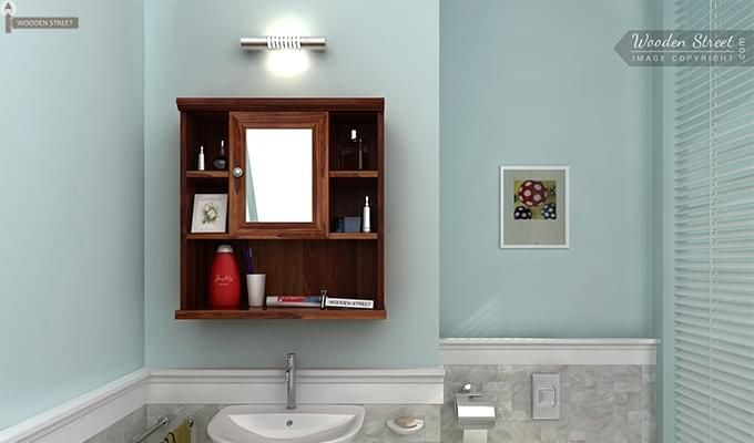 Ewing Bathroom Cabinet (Teak Finish)-1