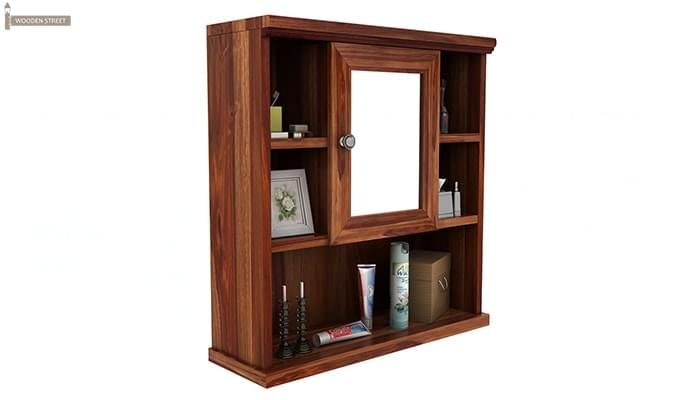Ewing Bathroom Cabinet (Teak Finish)-2