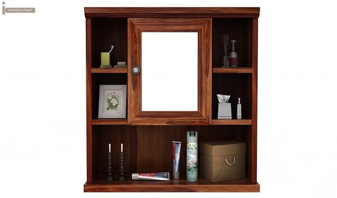 Ewing Bathroom Cabinet (Teak Finish)-3