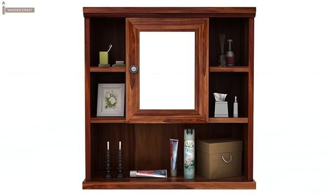 Ewing Bathroom Cabinet (Teak Finish)-3