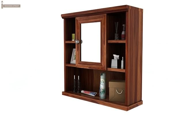 Ewing Bathroom Cabinet (Teak Finish)-4