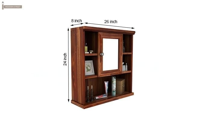 Ewing Bathroom Cabinet (Teak Finish)-5