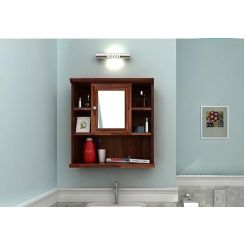 Ewing Bathroom Cabinet (Teak Finish)