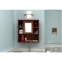 Ewing Bathroom Cabinet (Teak Finish)