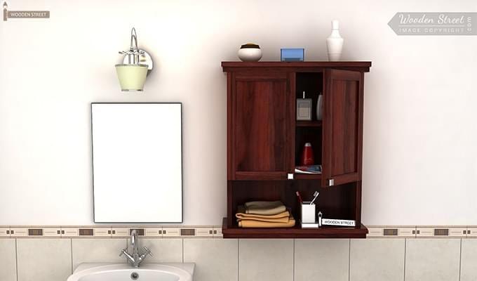 Frey Bathroom Cabinet (Mahogany Finish)-1