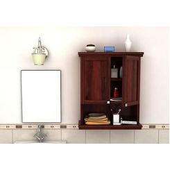 Frey Bathroom Cabinet (Mahogany Finish)