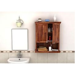 Frey Bathroom Cabinet (Teak Finish)
